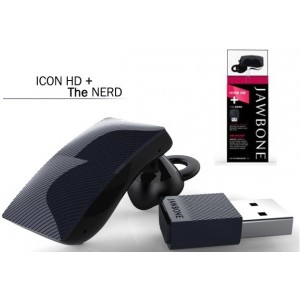Jawbone 'ICON HD' JGB06BLVHD-INTL Bluetooth Headset + The NERD USB-A2DP 'DENIM HD'