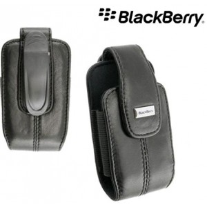 Blackberry Black Leather Swivel Holster with Proximity-sensing technology