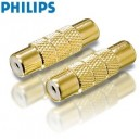 Philips SWA3564/10 Gold Plated Phono / RCA In-Line Connector / Coupler