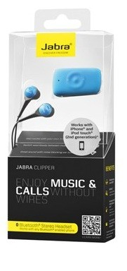 Jabra Clipper Bluetooth Headset - BLUE